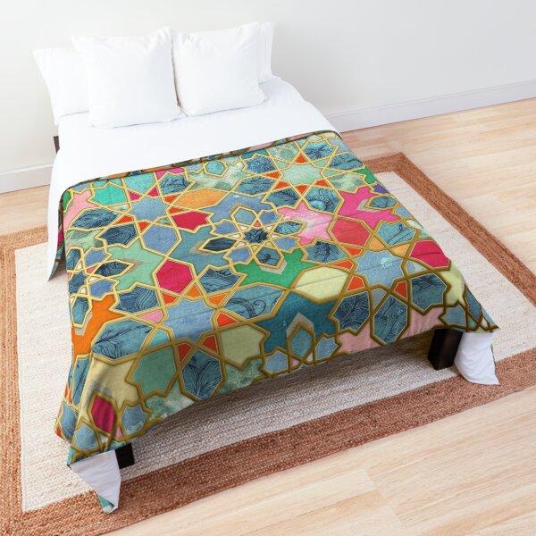 Gilt & Glory - Colorful Moroccan Mosaic Comforter