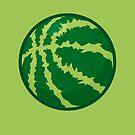 Watermelon Basketball by mykowu