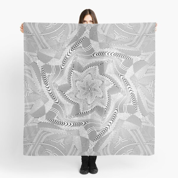 #Psychedelic #Hypnotic #Pattern, Visual #Illusion, Optical Art  Scarf