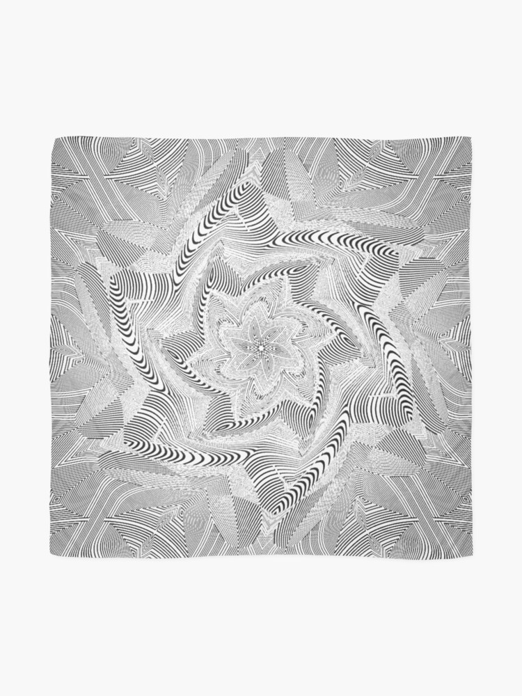 Alternate view of #Psychedelic #Hypnotic #Pattern, Visual #Illusion, Optical Art  Scarf