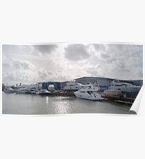 Sunseeker Boat Yard Poster