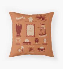 Doctor Who |Aliens & Villains (alternate version) Throw Pillow