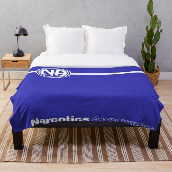 NA Basic Text Book Narcotics Anonymous Gift  Throw Blanket