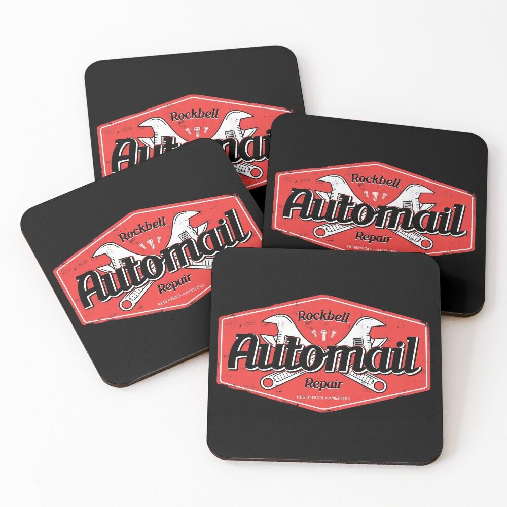 Rockbell Automail Repair Coasters (Set of 4)