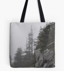 Foggy Mountain Morning Tote Bag