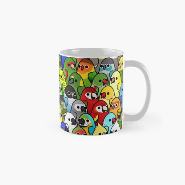Too Many Birds! Bird Squad 1 Classic Mug