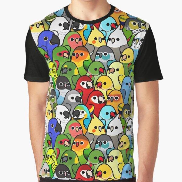 Too Many Birds! Bird Squad 1 Graphic T-Shirt