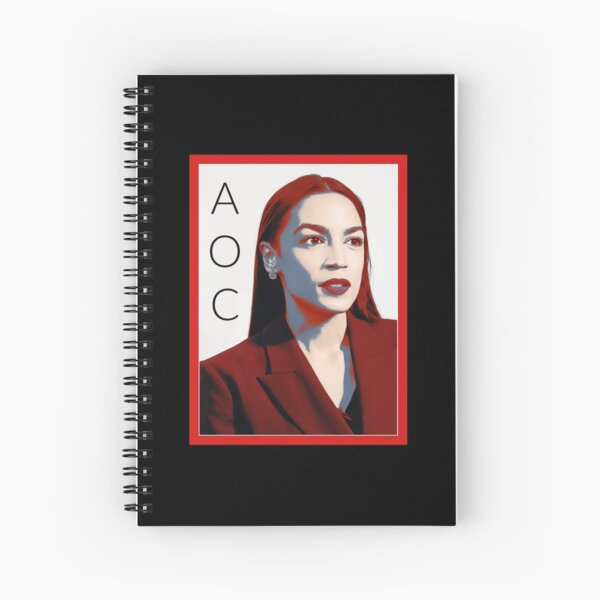 AOC Alexandria Ocasio-Cortez Spiral Notebook