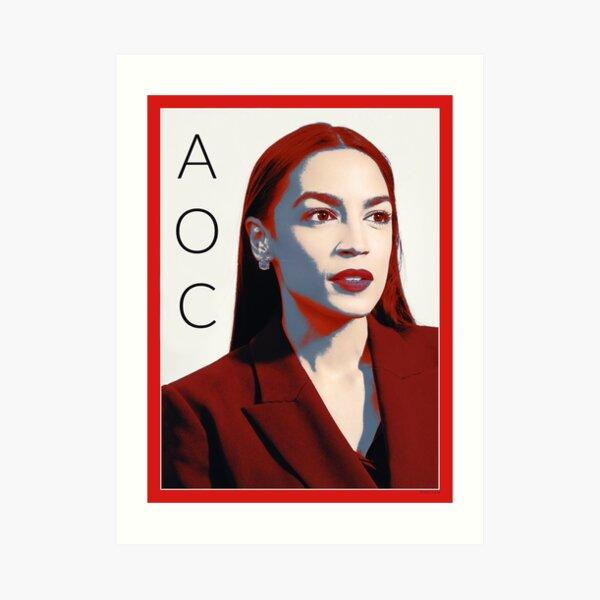 AOC Alexandria Ocasio-Cortez Art Print