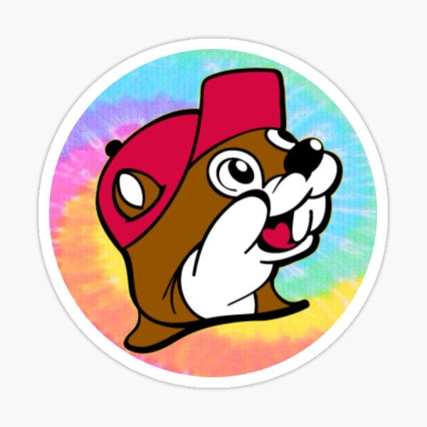 Tie dye beaver nuggets Sticker