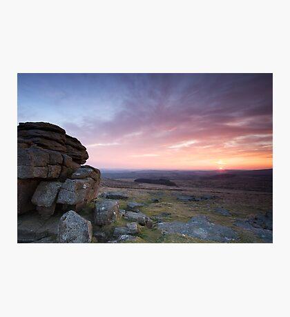 Sunset - Dartmoor Photographic Print