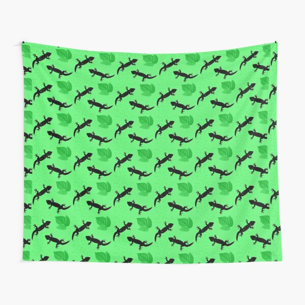 Lizards in green Tapestry