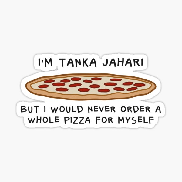 Impractical Jokers Tanka Jahari Pizza Sticker
