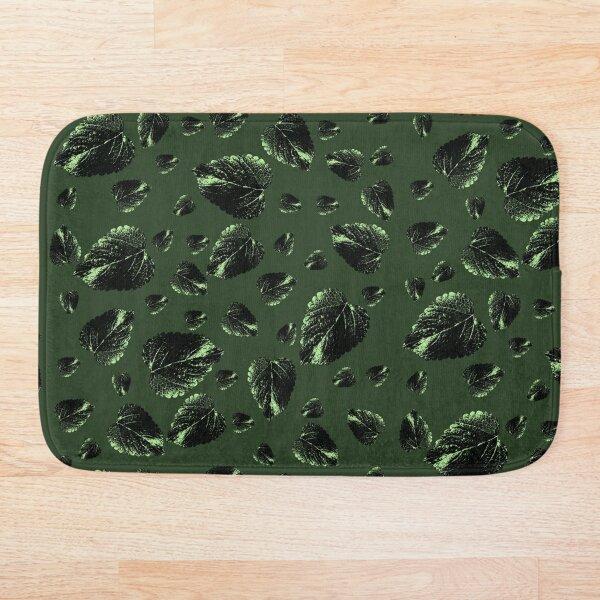 Forest Green Velvet Fall Bath Mat