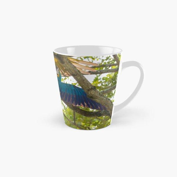 A pair of macaws have a tussle Tall Mug
