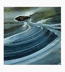 swirls below silverbridge - scotland Photographic Print