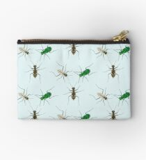 Tiger Beetle Pattern Zipper Pouch
