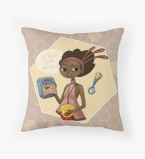 Vella (with background) Throw Pillow