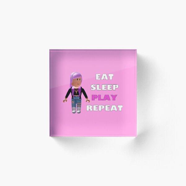 Roblox - Eat Sleep Play Repeat Acrylic Block
