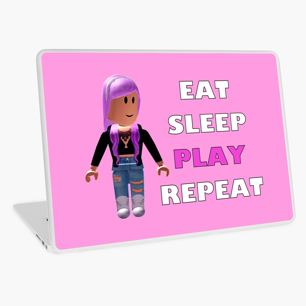 Roblox Eat Sleep Play Repeat Laptop Skin By Hypetype Redbubble