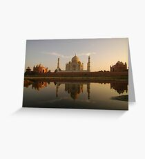 Taj Mahal Reflection Greeting Card