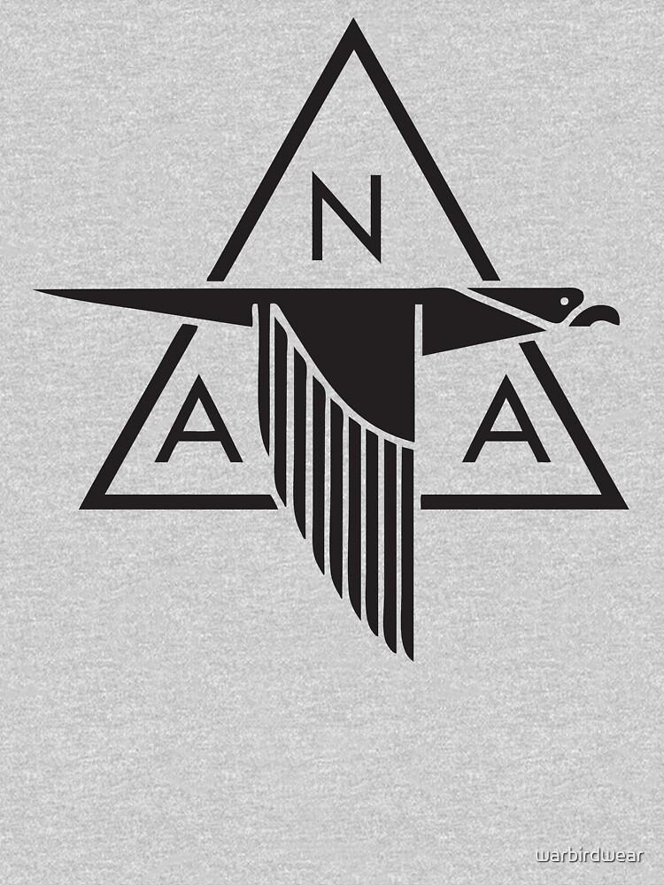 TShirtGifter presents: North American Aviation Logo (Black) | Unisex T-Shirt