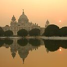 Victoria Monument reflection, Kolkata, India by Stephen Tapply