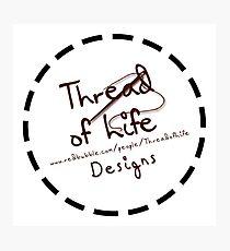 Thread of Life Sticker Logo Photographic Print