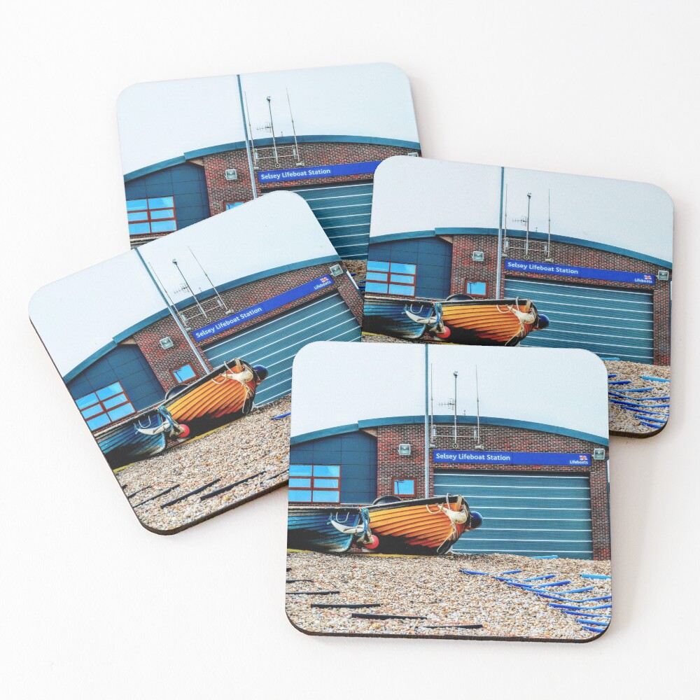 Selsey new lifeboat station Coasters (Set of 4)