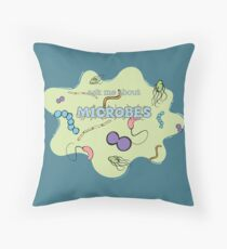 Ask me about MICROBES Throw Pillow
