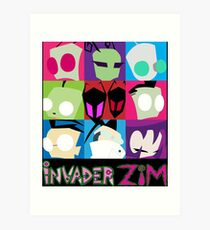Invader Zim Collection Art Print