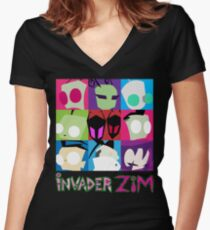 Invader Zim Collection Women's Fitted V-Neck T-Shirt