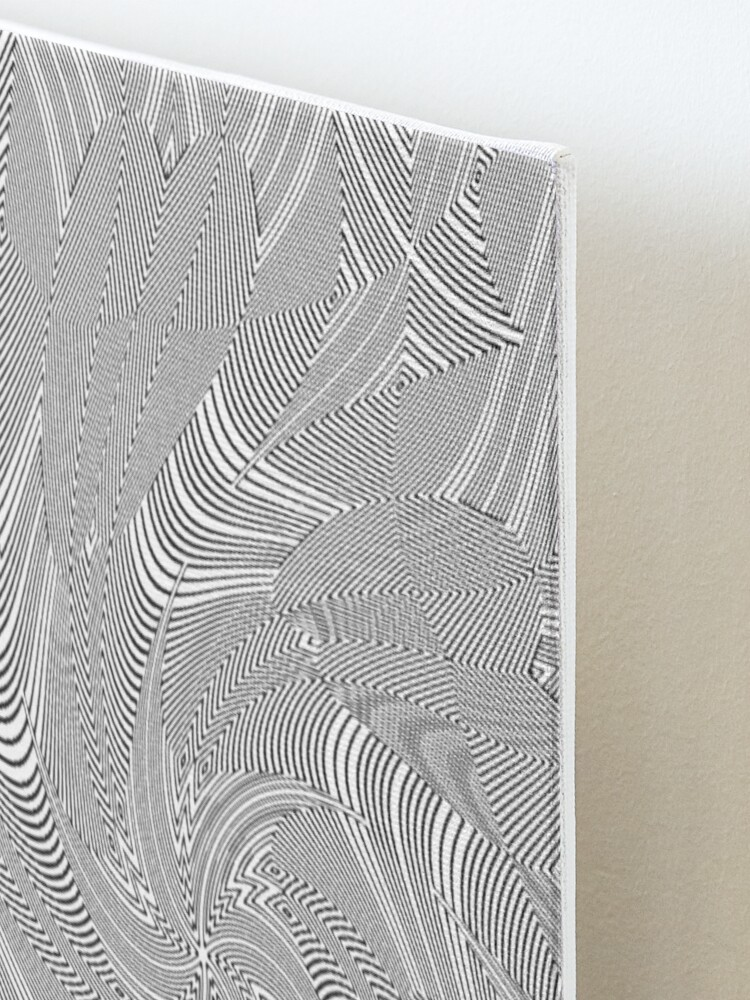 Alternate view of #Psychedelic #Hypnotic #Pattern, Visual #Illusion, Optical Art  Mounted Print