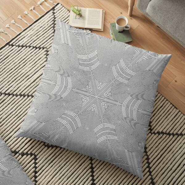 #Psychedelic #Hypnotic #Pattern, Visual #Illusion, Optical Art  Floor Pillow