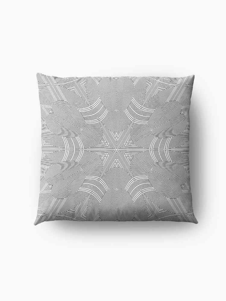 Alternate view of #Psychedelic #Hypnotic #Pattern, Visual #Illusion, Optical Art  Floor Pillow