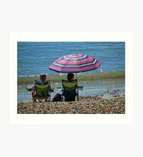 Keeping Cool at Lyme.dorset. UK Art Print