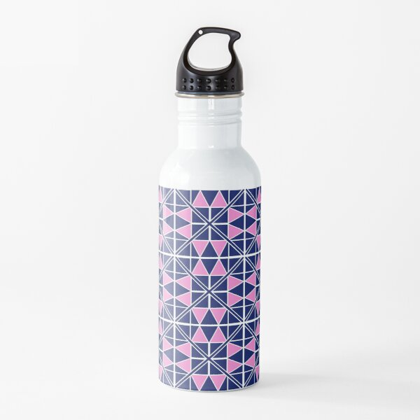 Navy Glow Pattern  Water Bottle