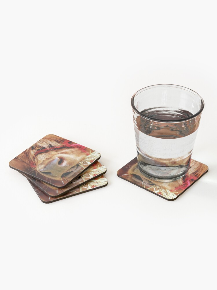 Alternate view of Chewing on hay Coasters (Set of 4)