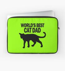 Worlds best cat dad funny geek funny nerd Laptop Sleeve