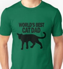 Worlds best cat dad funny geek funny nerd T-Shirt