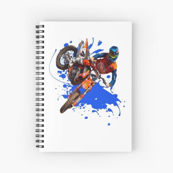 Blake Baggett BB4 #4 Motocross and Supercross Champion 4 Dirt Bike Gift Design Spiral Notebook