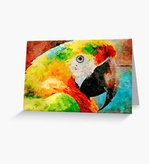 Bright Parrot Greeting Card