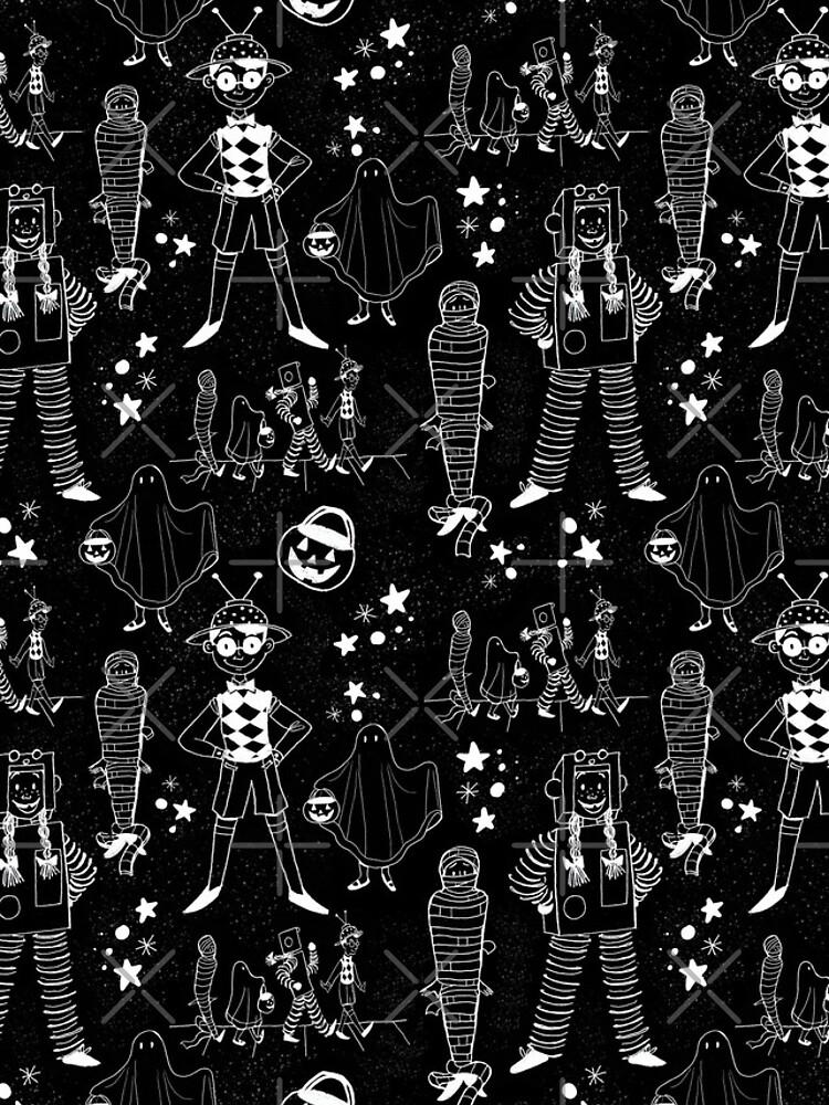 Halloween Illustration Pattern by annieparsons