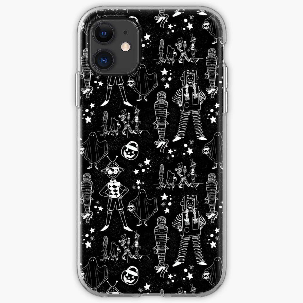 Halloween Illustration Pattern iPhone Case & Cover