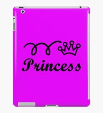 Yellow princess crown baby jumpsuit for cute girl geek funny nerd iPad Case/Skin