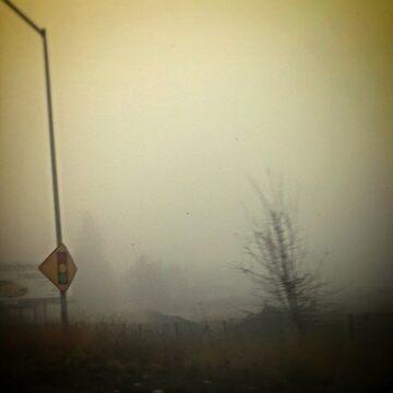 foggy morning road signs by rockstarstylist