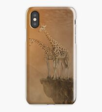 Two giraffes at  the high mountain iPhone Case/Skin