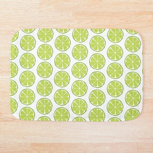 Retro Lime Slice Bath Mat