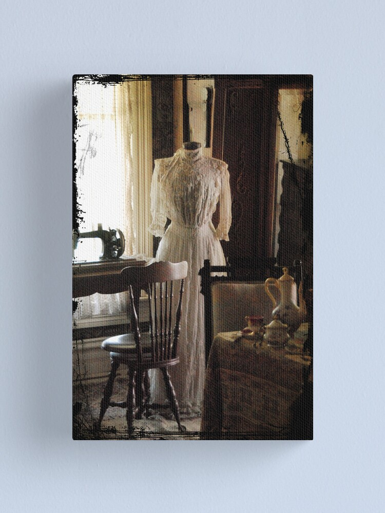 Alternate view of The Sewing Room Canvas Print
