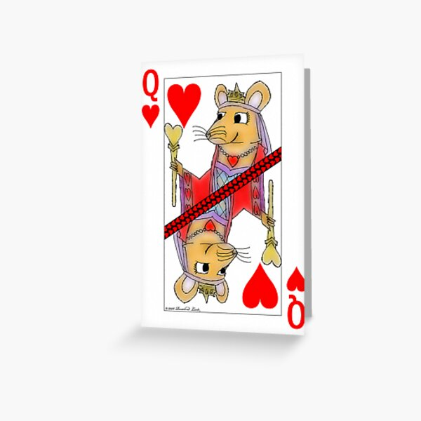 Flirting Rat Queen of Hearts Greeting Card